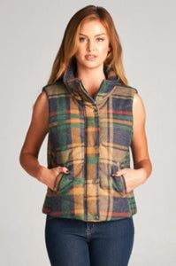 Plaid Vest, Multi Color