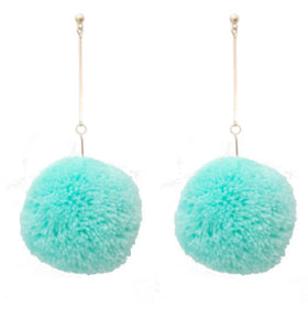 Puff Earrings, Mint