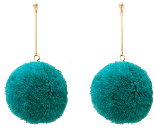 Puff Earrings, Turquoise