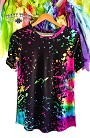Paint Splatter Top, Black