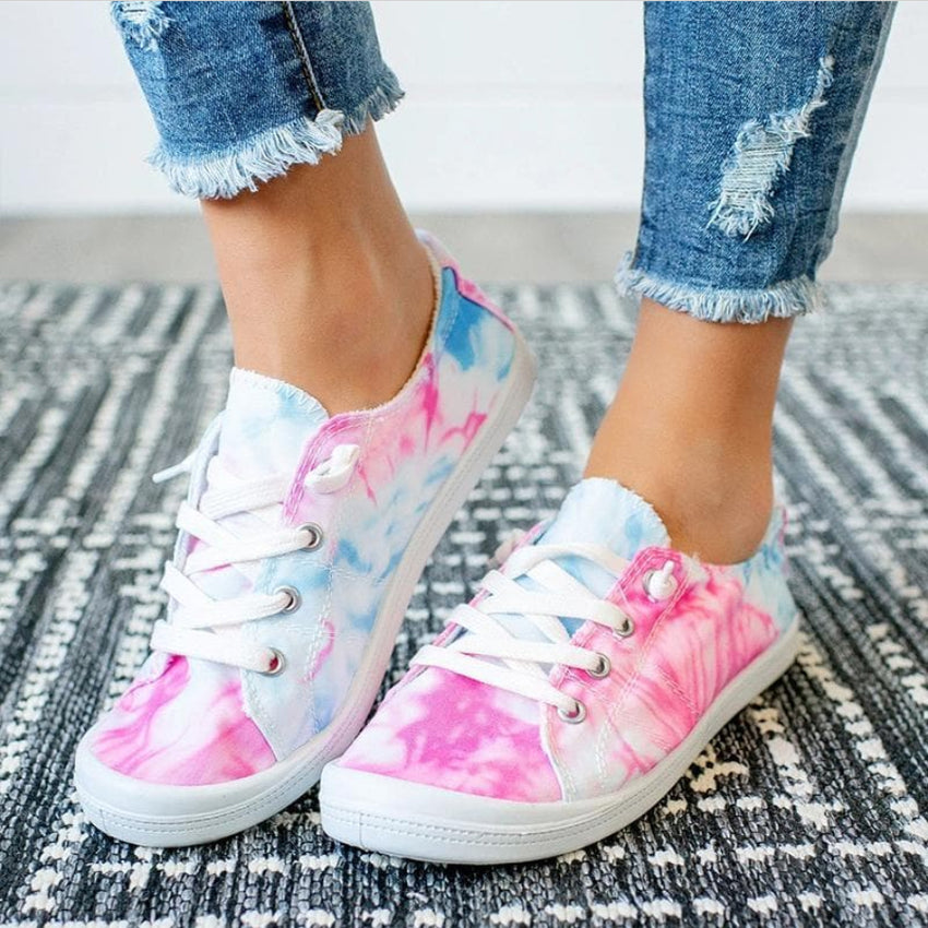 Tie Dye Shoes, Pink/Blue