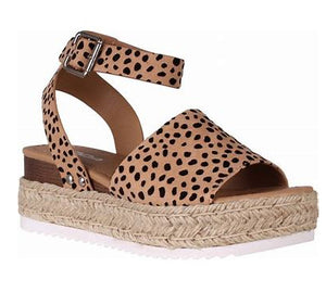 Leopard Print Topic Sandals