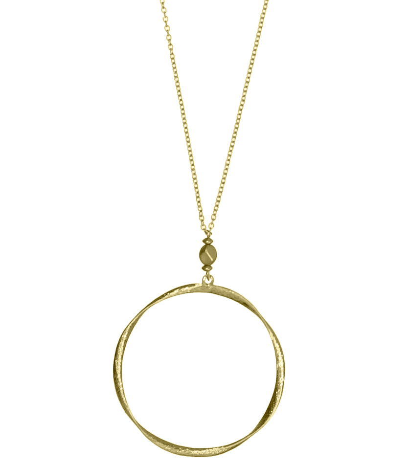 Twisted Hoop Necklace, Gold