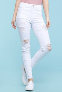 Judy Blue High Waisted Jeans, White
