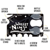 Wallet Ninja Multi Function 18 in 1 Credit Card Tool & Pocket Survival Knife