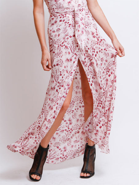 Floral Blush Maxi Skirt - NUDIST - 1