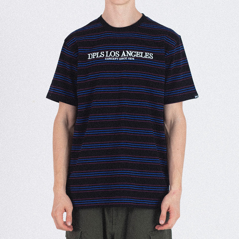 DPLS MULTI STRIPE TEE - BLACK