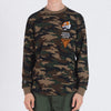 STARBURST LONG SLEEVE TEE - OLIVE (1588440137799)