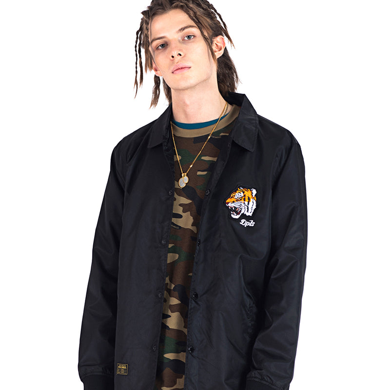 TIGER ARMY COACH JACKET - BLACK (1472280592455)