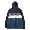 COLOR BLOCK ZIP-UP HOODIE - NAVY GREEN (1564395438151)
