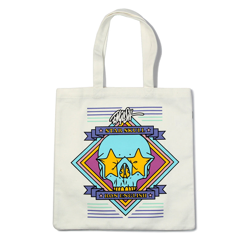 TOTE BAG - RON ENGLISH STAR SKULL DPLS