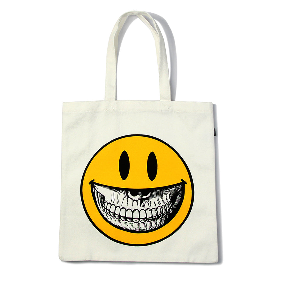 RON ENGLISH SMILEY FACE TOTE BAG (1590792519751)