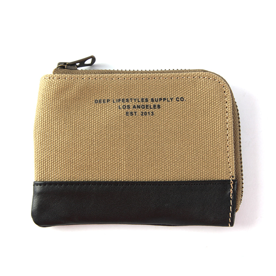 OG LOGO CANVAS WALLET - OLIVE