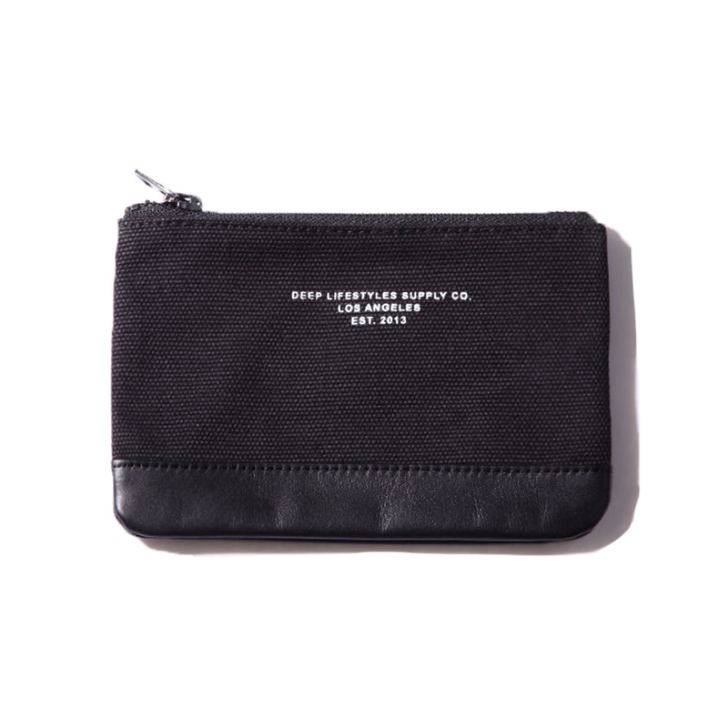 OG LOGO CANVAS COIN CASE - BLACK