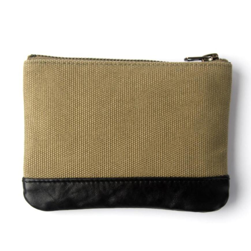 OG LOGO CANVAS COIN CASE - OLIVE