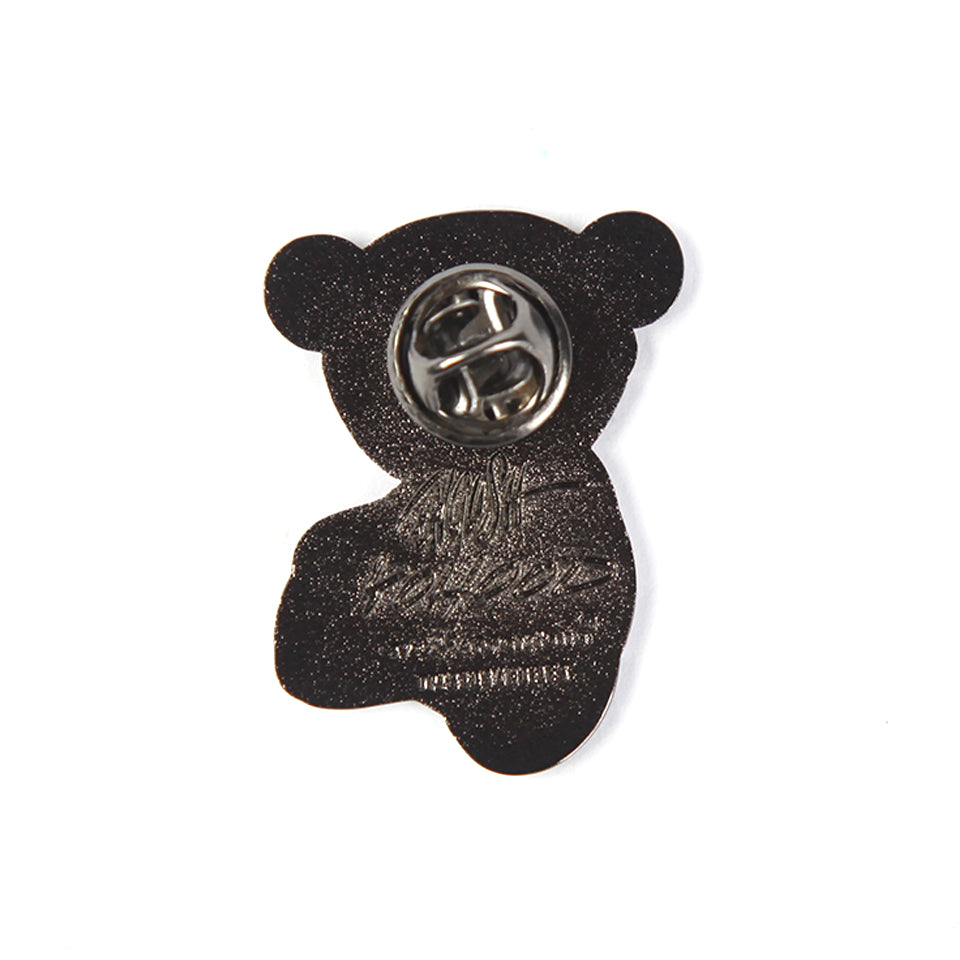 RON ENGLISH BEAR FACE PIN