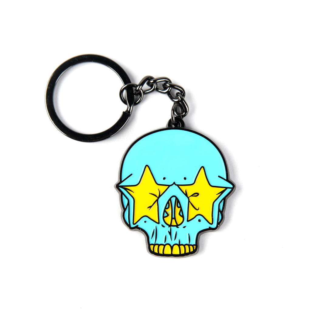 RON ENGLISH STAR SKULL KEYCHAIN