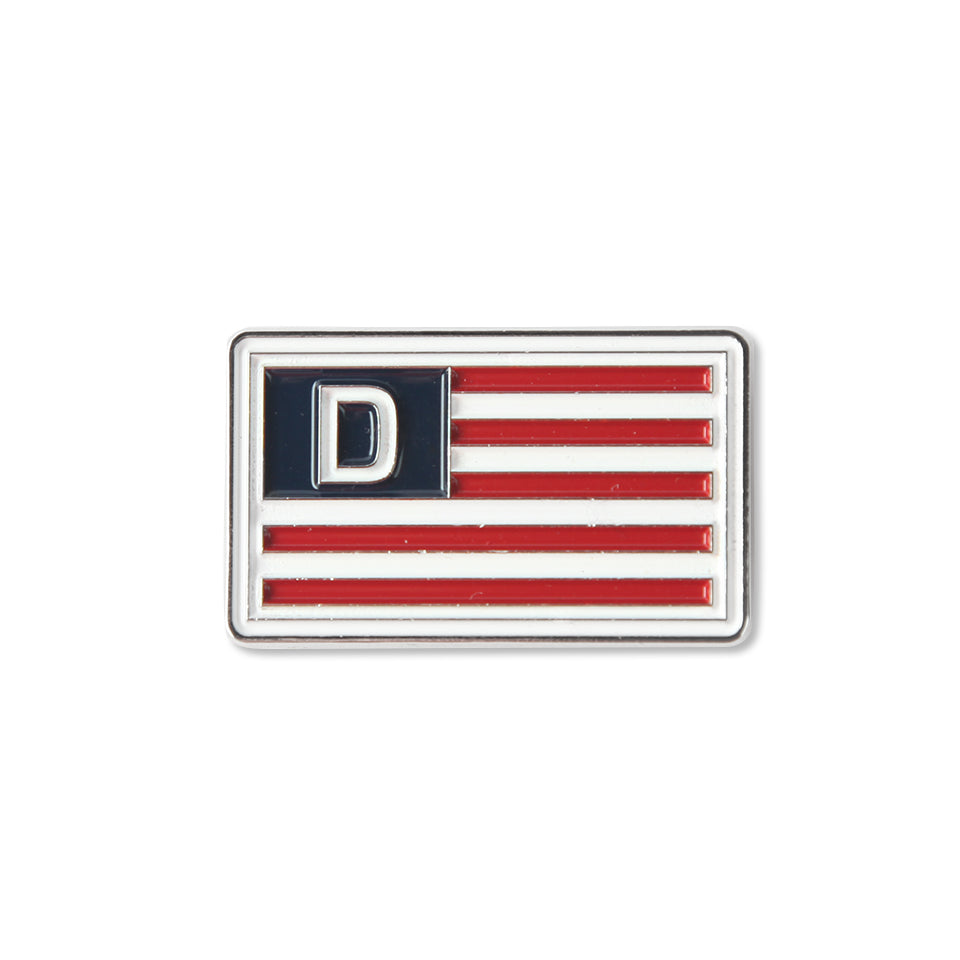 D NATION FLAG PIN