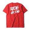 RIDE OR DIE TEE - RED (1305333891143)