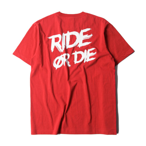 RIDE OR DIE CLASSIC TEE - RED