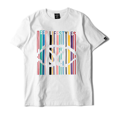 COLOR 3 D CLASSIC TEE - WHITE