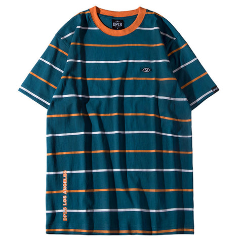 MULTI STRIPE TEE - GREEN