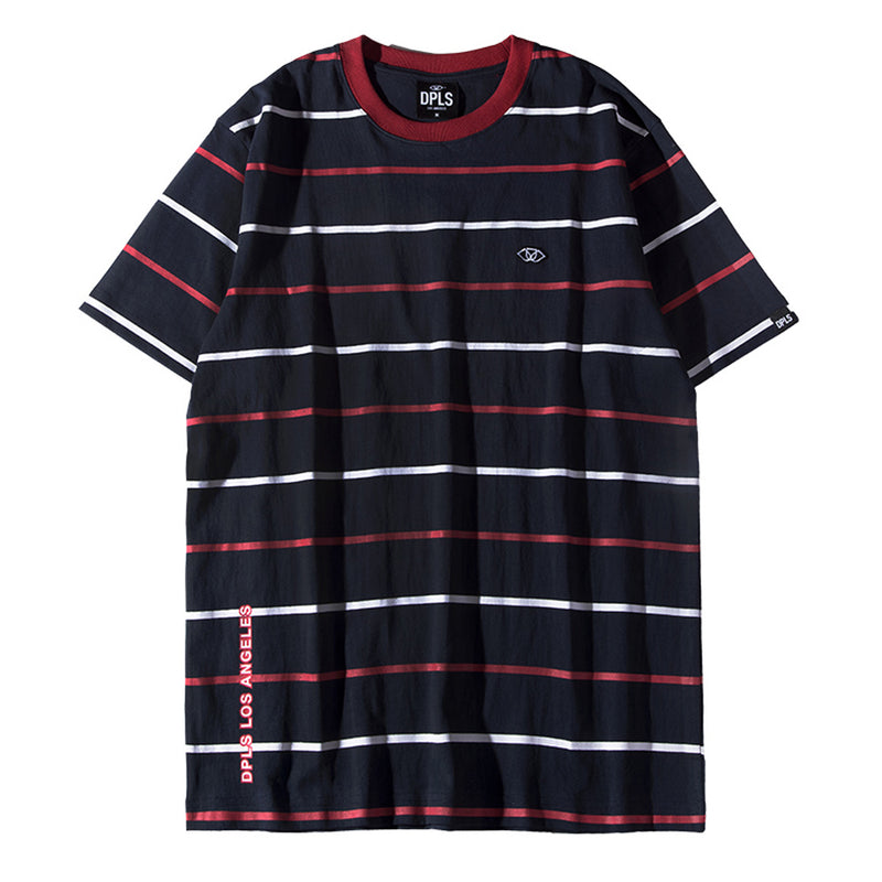 MULTI STRIPE TEE - NAVY
