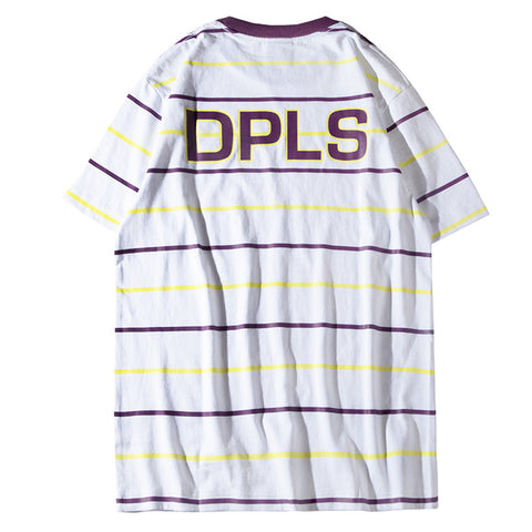 MULTI STRIPE TEE - WHITE