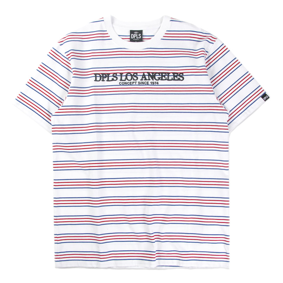 DPLS MULTI STRIPE TEE - WHITE