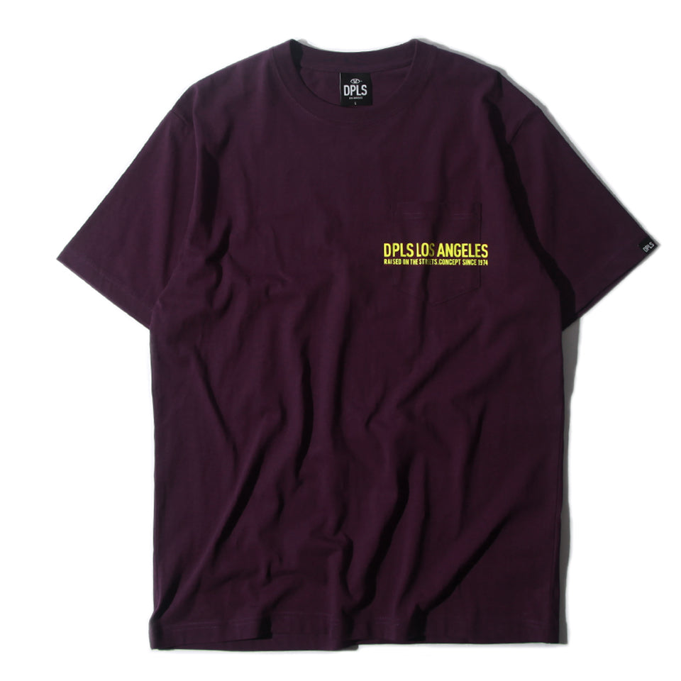 DPLS POCKET TEE - PURPLE (1649205411911)
