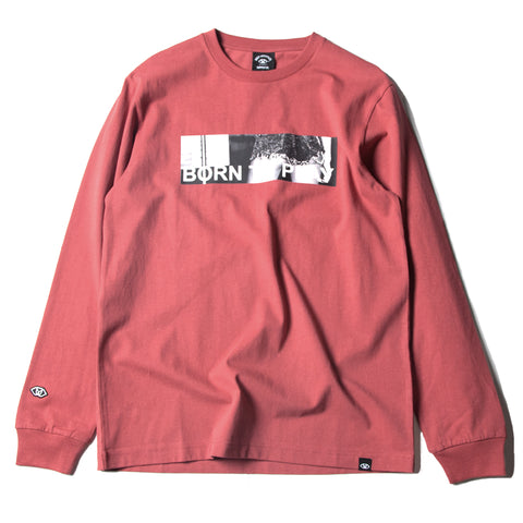 BORN TO PLAY LONG SLEEVE TEE - BRICK
