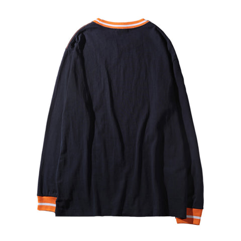 EST LONG SLEEVE TEE - NAVY