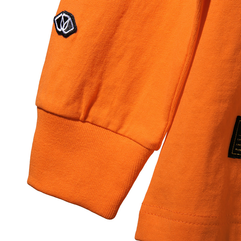 STARBURST LONG SLEEVE TEE - ORANGE (1588441153607)