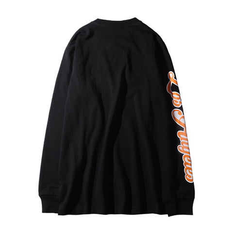 LA TIGER LONG SLEEVE TEE - BLACK