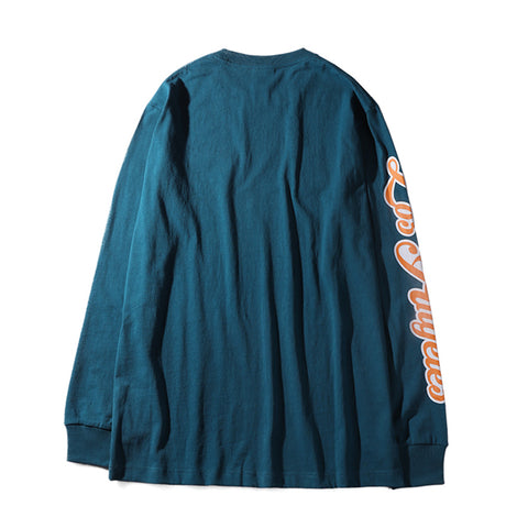 LA TIGER LONG SLEEVE TEE - TEAL