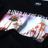 PALM TREE PHOTO TEE - BLACK