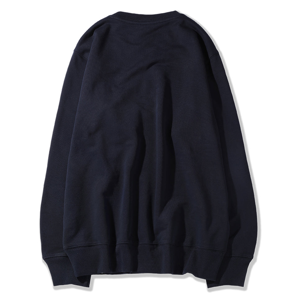 ABSTRACT MARK SWEATSHIRT - NAVY (1483239194695)