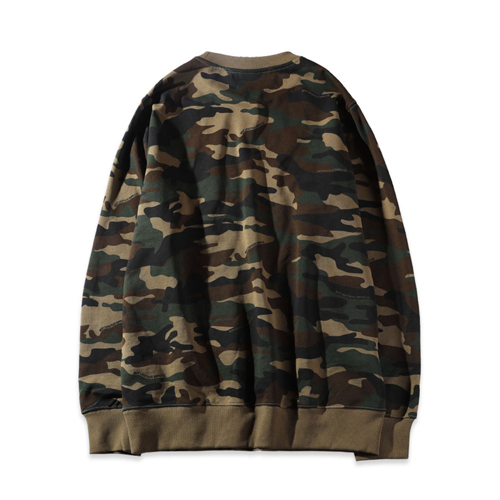 ABSTRACT MARK SWEATSHIRT - OLIVE (1472289243207)