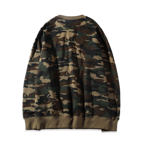 ABSTRACT MARK SWEATSHIRT - OLIVE