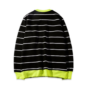 STRIPED SWEATSHIRT - BLACK