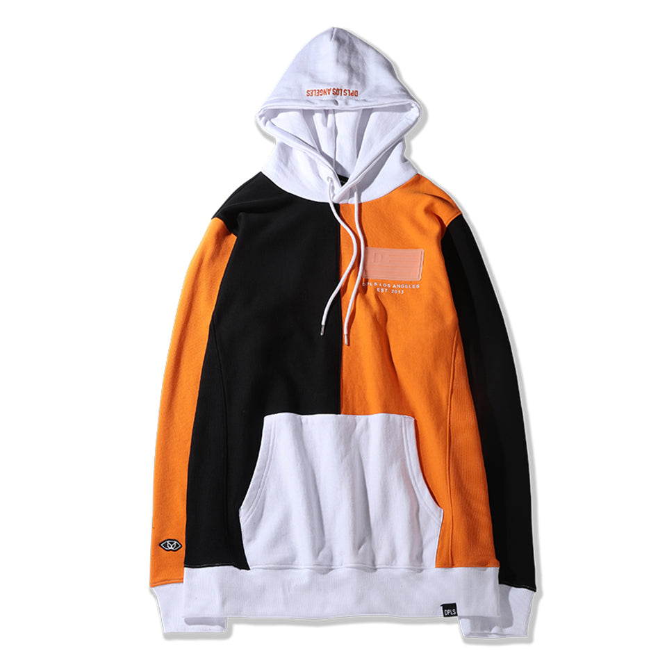 3 TONE HOODIE - BLACK/ORANGE