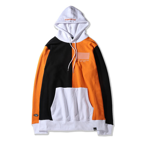COLOR BLOCKED COLLARED SWEATSHIRT - WHITE
