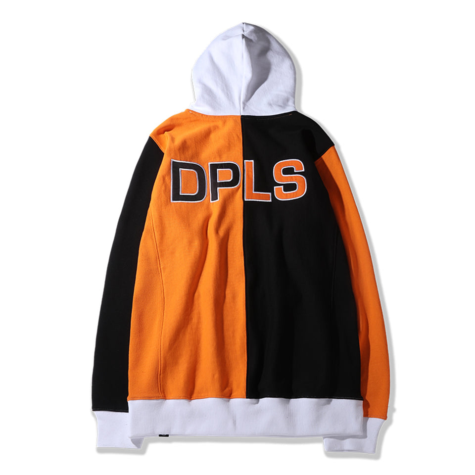 3 TONE HOODIE - BLACK/ORANGE (1483240538183)