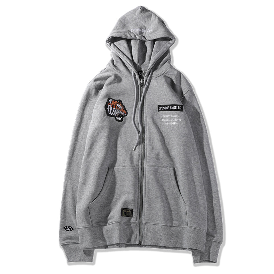 TIGER NATION ZIP-UP JACKET - GRAY