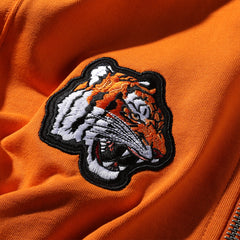 TIGER NATION ZIP-UP JACKET - ORANGE
