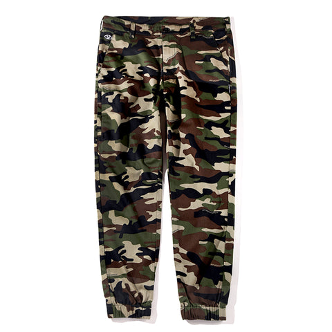 WOVEN JOGGER PANTS - OLIVE