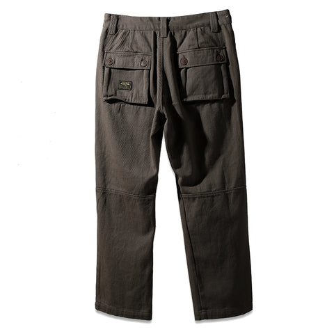 WOVEN PANTS - OLIVE