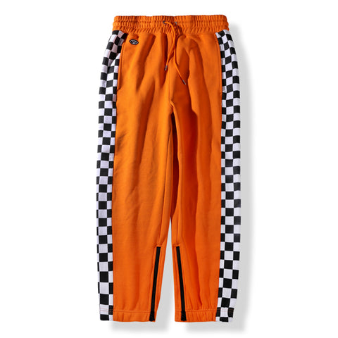 KNIT JOGGER PANTS - ORANGE