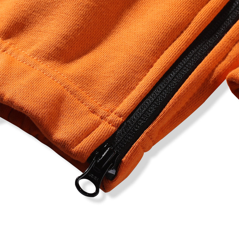 KNIT JOGGER PANTS - ORANGE (1487358591047)