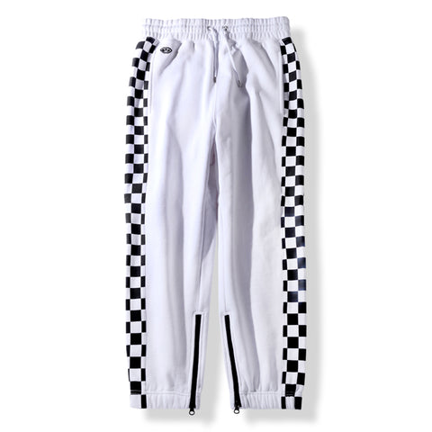 KNIT JOGGER PANTS - WHITE
